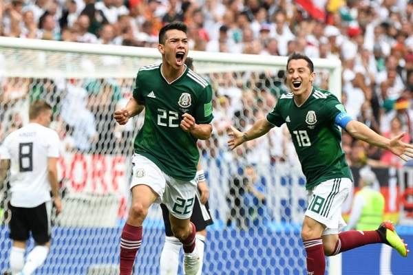 Mexico beat the current world Champion-Germany
