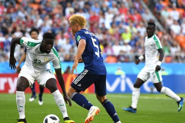 Japan and Senegal played in a draw 2:2