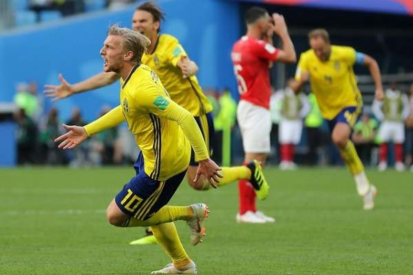 Team Sweden comes in 1/4 of the 2018 world Cup